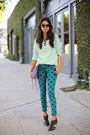 Teal-paige-jeans-light-blue-bellatrix-sweater-amethyst-rebecca-minkoff-bag