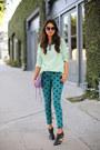 Teal-paige-jeans-light-blue-bellatrix-sweater-amethyst-rebecca-minkoff-bag