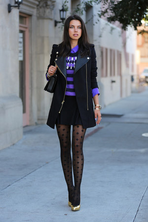 black Juicy Couture coat - violet Juicy Couture sweater