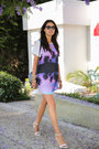 black Proenza  Schouler bag - light purple Finders Keepers dress