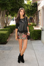 Black-bebe-boots-black-elizabeth-james-sweater-red-haute-hippie-skirt