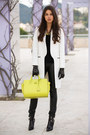 Black-barbara-bui-boots-white-zara-coat-chartreuse-alexander-wang-bag