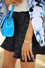 Blue-bebe-blazer-turquoise-blue-asos-bag-white-zara-top-navy-asos-skirt