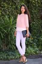 ted baker top - J Brand jeans - 31 Phillip Lim bag - Zara heels