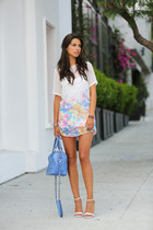 white For Love & Lemons dress - violet Alice  Olivia bag - white Zara heels