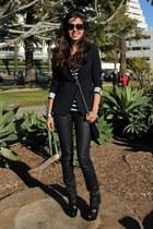 asos boots - Diesel jeans - Zara blazer - Tylie of Malibu bag - Zara top