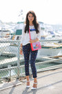 Navy-minusey-jeans-white-joie-sweater-red-marc-by-marc-jacobs-bag