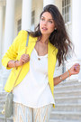 Cream-free-people-jeans-yellow-theory-blazer-lime-green-rebecca-minkoff-bag