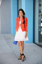 salmon Truth & Pride jacket - white tailor & stylist dress