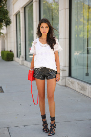 black One Teaspoon shorts - red Marc by arc Jacobs bag