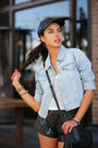 Black-shopbop-hat-sky-blue-levis-jacket-black-gucci-bag