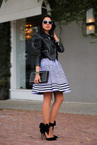 black Valentino bag - violet Kenzo dress - black Aminah Abdul Jilil heels