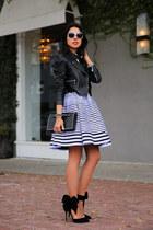 black Valentino bag - violet Kenzo dress - black Aminah Abdul Jilil heels