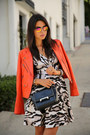 Camel-dvf-dress-carrot-orange-truth-pride-jacket-black-dvf-bag