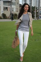 TODs bag - Bamboo shoes - J Brand jeans - Forever 21 jacket