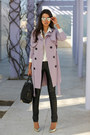Light-purple-nasty-gal-coat-black-alexander-wang-bag-black-bcbg-pants