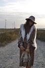 Ivory-h-m-vest-dark-brown-mango-dress-eggshell-topshop-hat