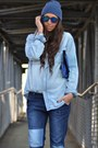 Blue-zara-jeans-blue-zara-kids-hat-sky-blue-h-m-man-shirt