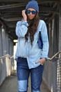 Blue-zara-jeans-blue-zara-kids-hat-sky-blue-h-m-man-shirt