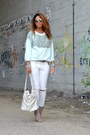 White-miabag-bag-silver-no-brand-heels-ivory-h-m-pants