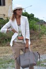 Cream-h-m-blazer-white-h-m-man-hat-heather-gray-celine-bag