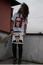 White-american-apparel-t-shirt-black-zara-pants-black-zara-shoes-black-no-