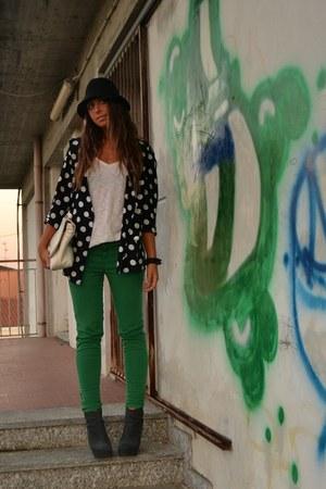 chartreuse pants Zara pants - black vintage blazer vintage blazer