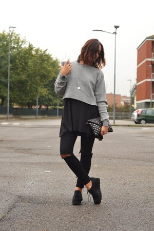 black Palomitas shoes - silver brandy melville sweater