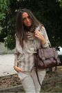 Beige-no-brand-scarf-beige-vintage-shirt-brown-asos-purse-beige-zara-pants