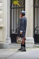 silver H&M jumper - brown Celine bag - heather gray no brand cardigan