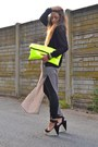 Yellow-wwwarmadiodimatildeit-bag-silver-zara-dress-black-romwe-jacket