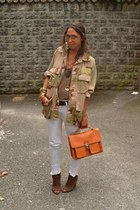 lime green military jacket vintage jacket - orange satchel bag wwwromwecom bag -