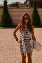 white skulls scarf wholsale scarf - white stripes dress Zara dress