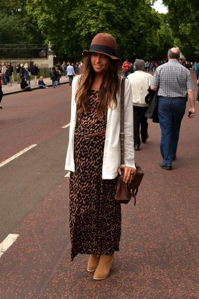 H&M dress - asos boots - H&M hat - H&M blazer - asos bag