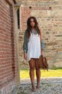 Ivory-zara-dress-aquamarine-missoni-cardigan-light-brown-bronx-wedges