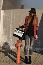 black boots asos boots - silver jeans Zara jeans - black hat H&M hat