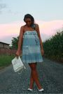 White-vintage-purse-blue-zara-dress-white-viamaestra-shoes-blue-vintage-ne