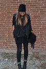 Black-h-m-hat-gray-h-m-jeans-black-zara-man-jacket-black-replay-bag