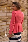 Coral-coral-blazer-queens-wardrobe-blazer-off-white-zara-shoes