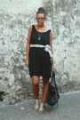 Black-h-m-dress-gray-h-m-shoes-black-balenciaga-purse-gray-no-brand-belt-