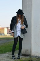 black H&M hat - silver H&M coat - black Zara jacket - white Zara Man shirt