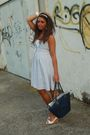 White-h-m-dress-blue-vintage-purse-white-no-brand-shoes-white-h-m-accessor