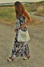 Brown-h-m-dress-white-no-brand-shoes-white-h-m-bracelet-white-no-brand-pur