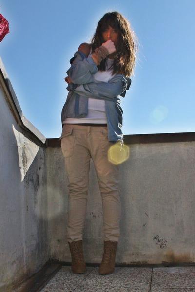 beige spring pants Zara pants - beige new shoes Zara shoes