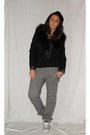 Black-zara-blazer-gray-antony-morato-pants-gray-converseall-star-shoes-gra