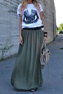 Olive-green-zara-skirt-black-h-m-hat-dark-khaki-balenciaga-bag