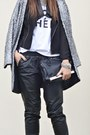 Black-jacket-romwe-jacket-h-m-coat-h-m-hat-river-island-t-shirt