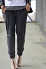 Silver-forever-21-shoes-black-romwe-jacket-charcoal-gray-zara-pants