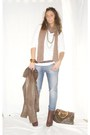 Brown-made-in-italy-jacket-white-h-m-shirt-blue-met-jeans-brown-alcott-bel
