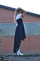 black AXPAris dress - white il maltese shoes - white H&M t-shirt